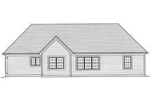 Dream House Plan - Traditional Exterior - Rear Elevation Plan #46-469