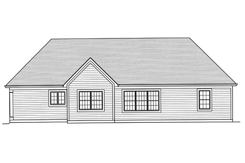 Traditional Exterior - Rear Elevation Plan #46-469 - Houseplans.com