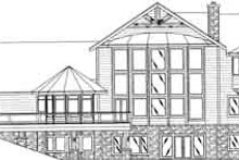 Architectural House Design - Traditional Exterior - Rear Elevation Plan #117-348