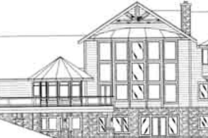 Traditional Exterior - Rear Elevation Plan #117-348 - Houseplans.com