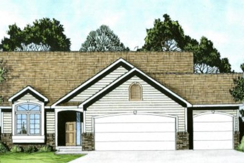 Home Plan - Traditional Exterior - Front Elevation Plan #58-168