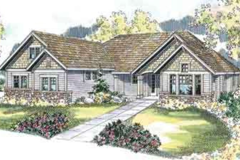 Craftsman Style House Plan - 3 Beds 2.5 Baths 2890 Sq/Ft Plan #124-509 Exterior - Front Elevation