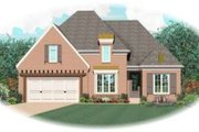 European Style House Plan - 3 Beds 3 Baths 3118 Sq/Ft Plan #81-1157 Exterior - Front Elevation