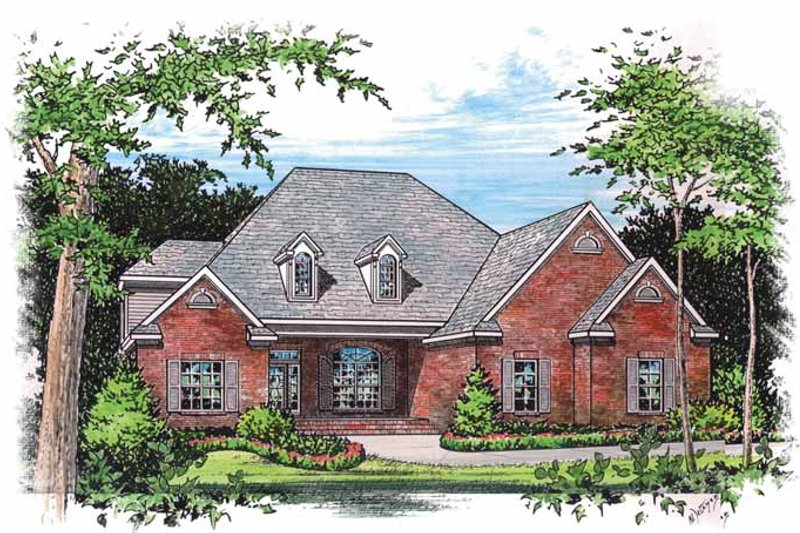 Traditional Exterior - Front Elevation Plan #15-300 - Houseplans.com