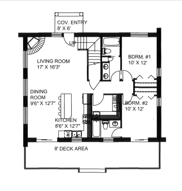 House Design - Log Floor Plan - Main Floor Plan #117-824