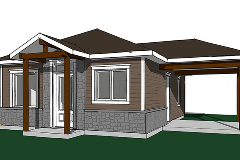 Ranch Exterior - Front Elevation Plan #23-2607 - Houseplans.com