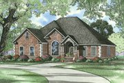European Style House Plan - 4 Beds 3 Baths 2542 Sq/Ft Plan #17-526 Exterior - Front Elevation
