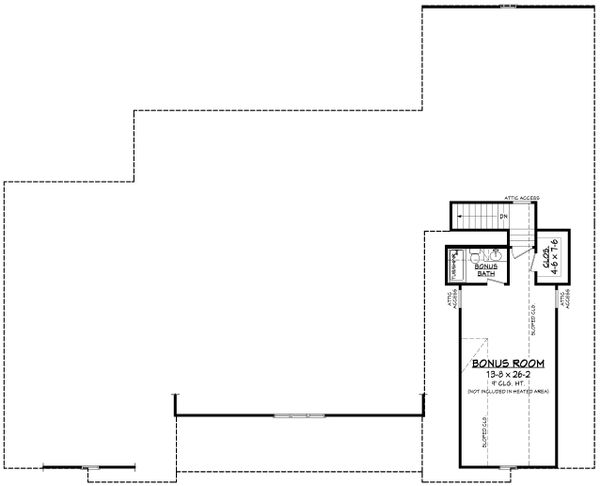 Farmhouse Floor Plan - Upper Floor Plan Plan #430-222