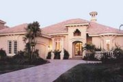 Mediterranean Style House Plan - 3 Beds 3.5 Baths 3006 Sq/Ft Plan #115-104