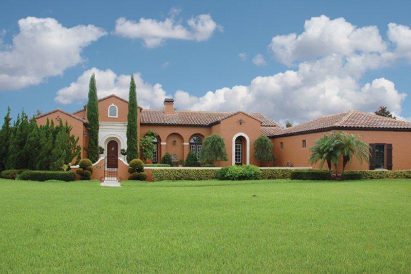 Architectural House Design - Mediterranean Exterior - Front Elevation Plan #1058-18