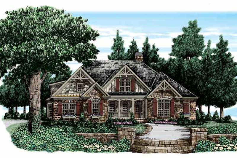 Country Exterior - Front Elevation Plan #927-311 - Houseplans.com