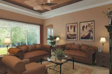 Mediterranean Interior - Family Room Plan #930-175