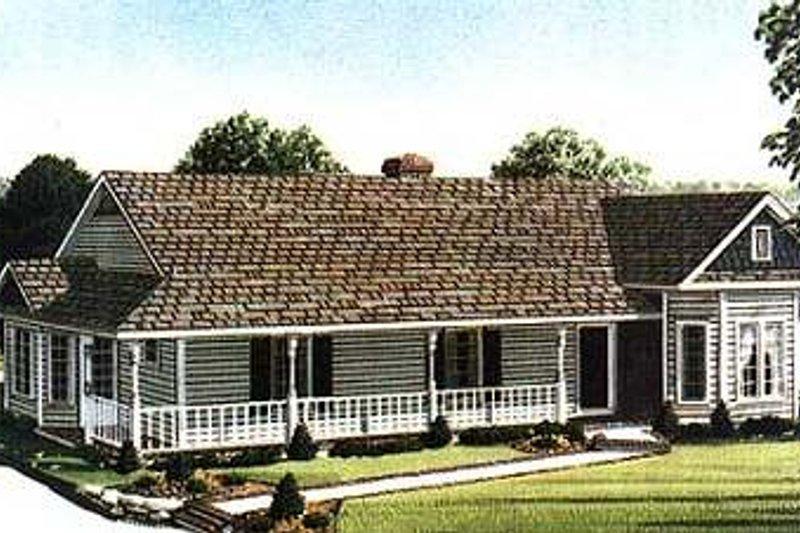 Victorian Exterior - Front Elevation Plan #410-102