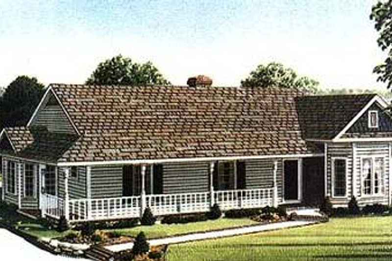 Dream House Plan - Victorian Exterior - Front Elevation Plan #410-102