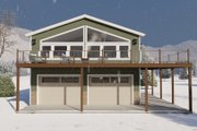 Traditional Style House Plan - 2 Beds 2 Baths 2915 Sq/Ft Plan #1060-95 Exterior - Front Elevation