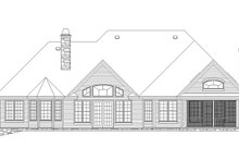 Country Exterior - Rear Elevation Plan #929-955