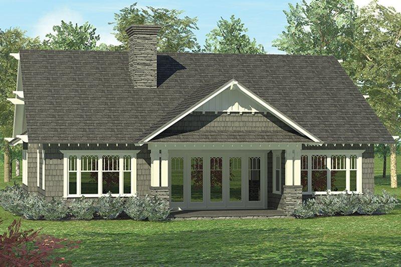 Craftsman Exterior - Rear Elevation Plan #453-614 - Houseplans.com