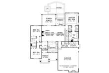 Ranch Floor Plan - Main Floor Plan Plan #929-1012