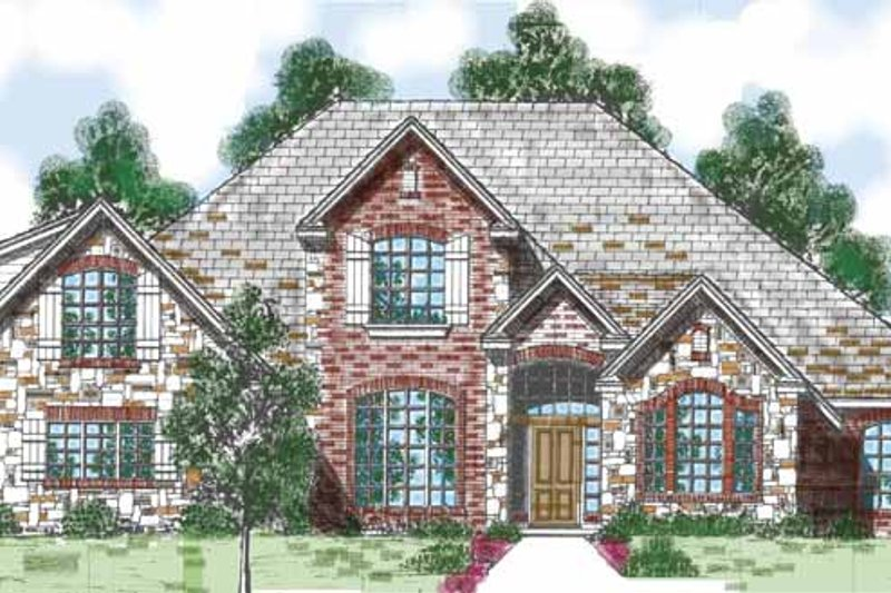 Home Plan - Traditional Exterior - Front Elevation Plan #52-281