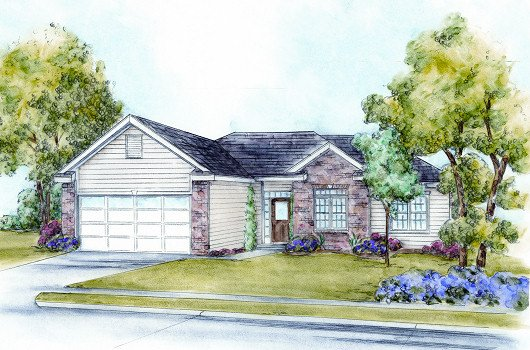 Traditional Exterior - Front Elevation Plan #20-2091