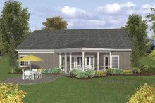 Dream House Plan - Craftsman Exterior - Rear Elevation Plan #56-692