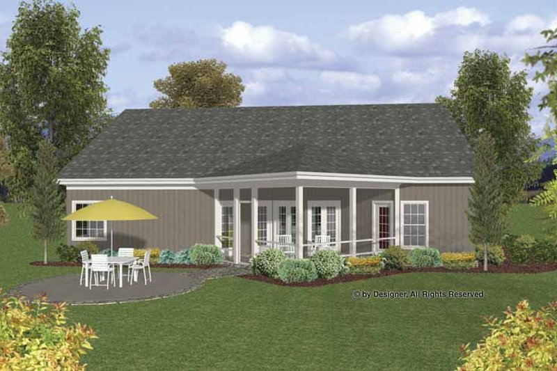 Craftsman Exterior - Rear Elevation Plan #56-692 - Houseplans.com