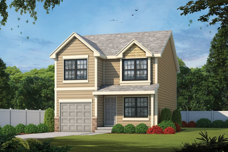 Architectural House Design - Traditional Exterior - Front Elevation Plan #20-2177