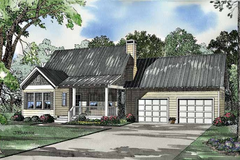 Craftsman Exterior - Front Elevation Plan #17-3036