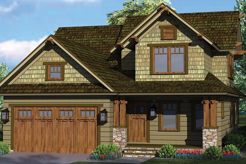 Craftsman Exterior - Front Elevation Plan #453-621 - Houseplans.com
