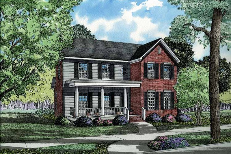 Classical Exterior - Front Elevation Plan #17-2665