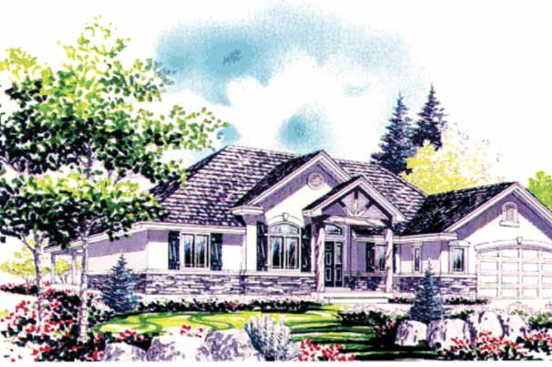 Country Exterior - Front Elevation Plan #308-276