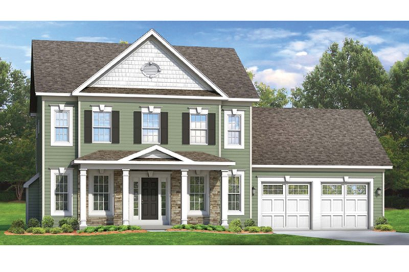 Colonial Exterior - Front Elevation Plan #1010-50 - Houseplans.com