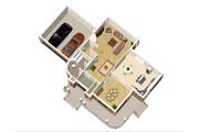 Victorian Style House Plan - 3 Beds 2 Baths 2562 Sq/Ft Plan #25-4691 Floor Plan - Main Floor Plan