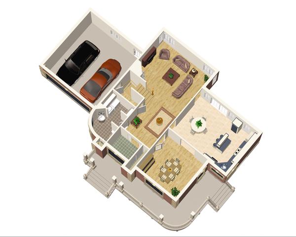 Victorian Floor Plan - Main Floor Plan Plan #25-4691