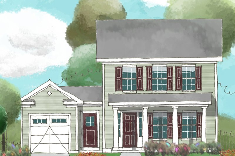 Colonial Exterior - Front Elevation Plan #1053-37 - Houseplans.com