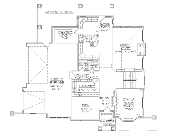 European Floor Plan - Main Floor Plan Plan #945-137