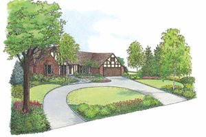 House Plan Design - European Exterior - Front Elevation Plan #1040-21