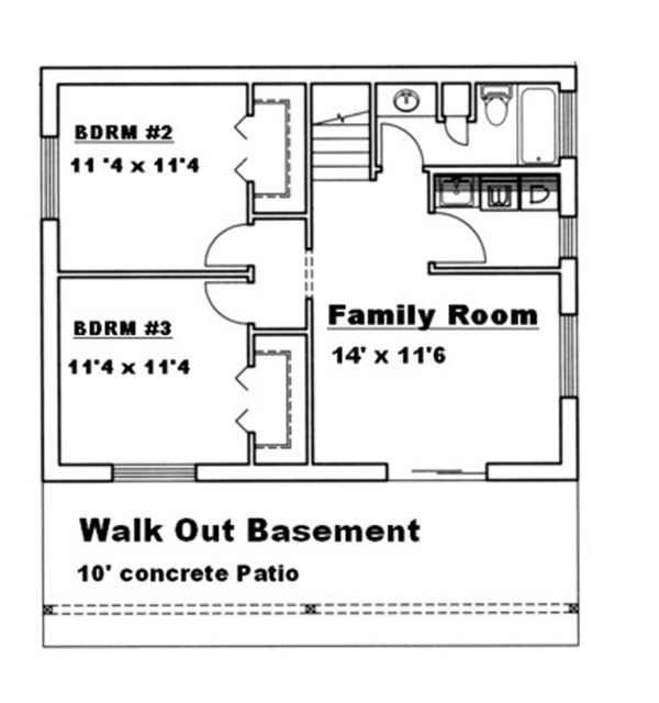 Floor Plan - Lower Floor Plan Plan #117-829