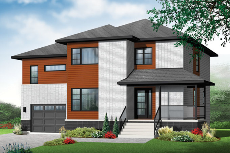 Contemporary Exterior - Front Elevation Plan #23-2588 - Houseplans.com