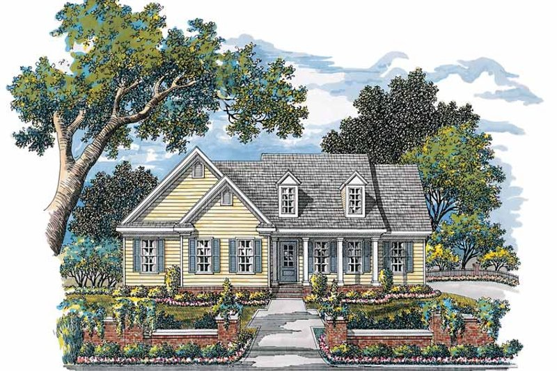 Dream House Plan - Country Exterior - Front Elevation Plan #952-236