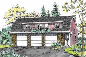 Home Plan - Colonial Exterior - Front Elevation Plan #315-126