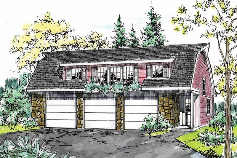 Colonial Exterior - Front Elevation Plan #315-126