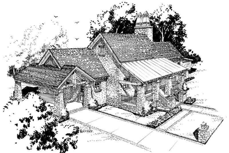 Craftsman Exterior - Front Elevation Plan #942-19 - Houseplans.com