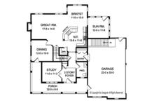 Colonial Floor Plan - Main Floor Plan Plan #1010-197