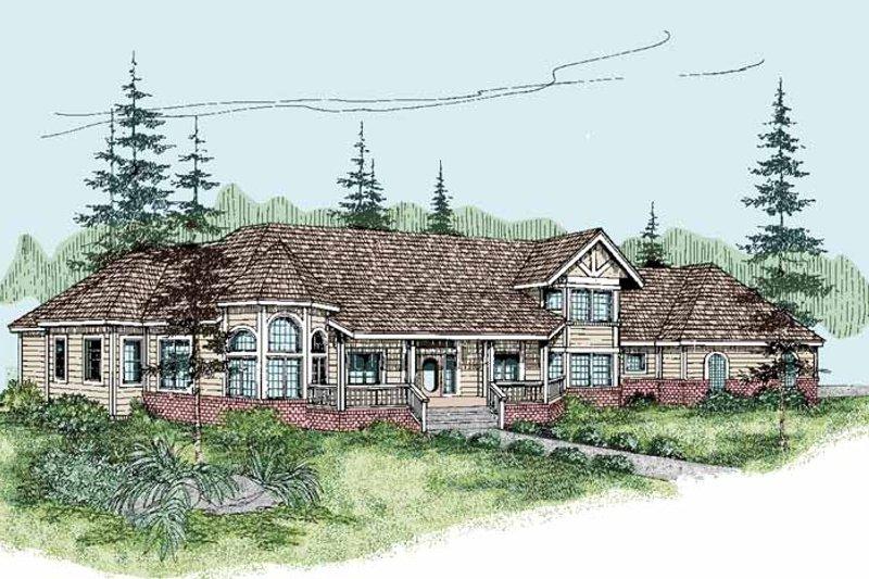 Architectural House Design - Victorian Exterior - Front Elevation Plan #60-1015
