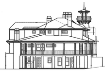 House Plan Design - Country Exterior - Rear Elevation Plan #54-302