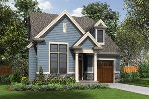 Cottage Exterior - Front Elevation Plan #48-488