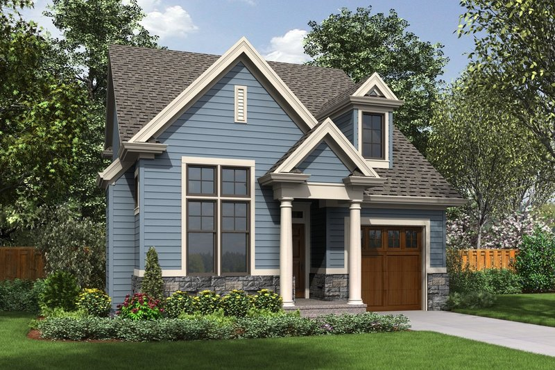 Cottage Style House Plan - 3 Beds 2.5 Baths 1454 Sq/Ft Plan #48-488