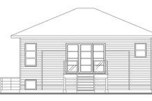 House Plan Design - Contemporary Exterior - Rear Elevation Plan #23-2537