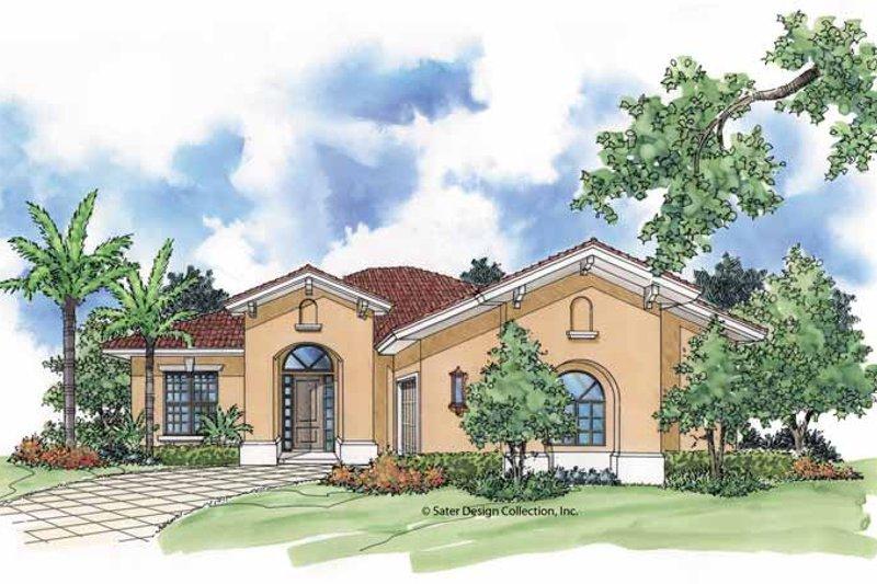 House Plan Design - Mediterranean Exterior - Front Elevation Plan #930-393